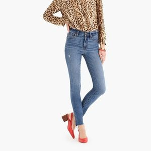 "J. Crew 9"" High Rise Toothpick Jeans"
